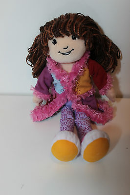"Manhattan toy Groovy Girl Plush Cute 12"" Doll Darci  w Colorful Coat type dress"