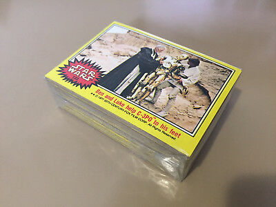 Star Wars Series 3 (Yellow) - Complete Card Set (133-198) 1977 @ Near Mint