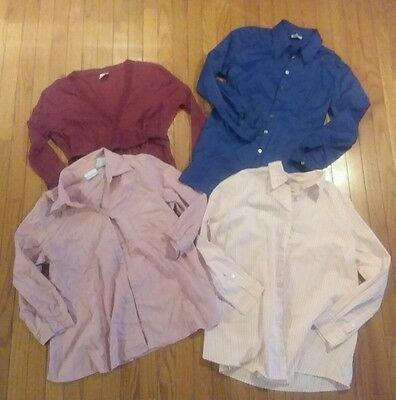 Maternity LOT 4 piece shirts tops large L long sleeves work career