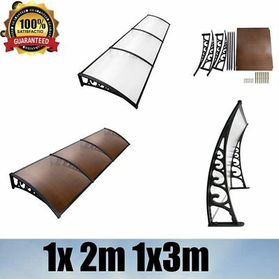 1x 2m 1x3m Window Door Awning Garden Cover Outdoor Canopy Patio Shield Structure