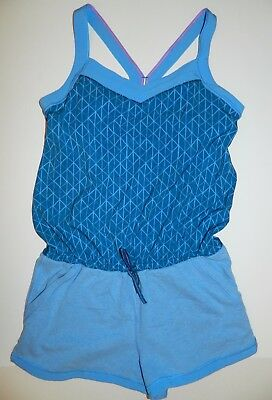 IVIVVA Lululemon ~ BREEZE Easy ROMPER Shorts ~ Heathered OFF the Chain BLUE ~ 12