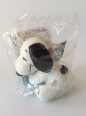 """Snoopy, Peanuts, Wendy's, Kids Meal, 50Th Anniversary, #1 Of 5, Plush 3.25"""""""