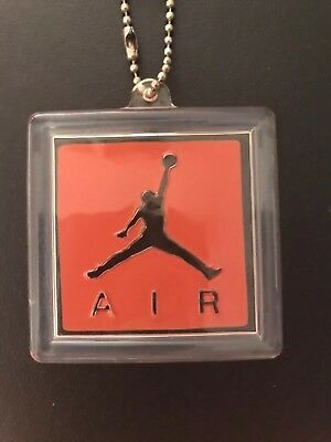 Nike Air Jordan Retro 3 4 Hang Tag Keychain Authentic White Cement Bred