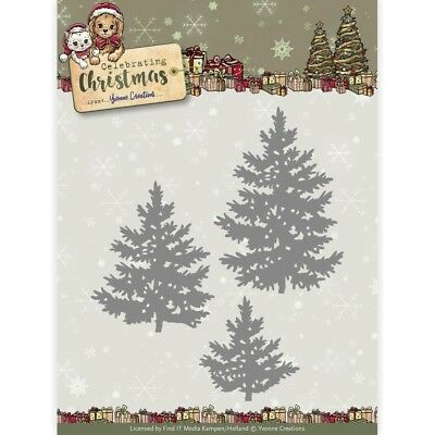 Find It Yvonne Creations Celebrating Christmas Die - Pine Trees