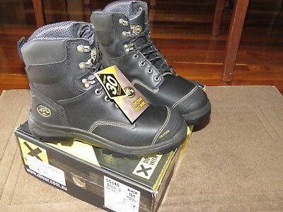 "OLIVER AT's Lace Up Mid Cut 6"" Leather Safety Boots Size 10.5 Black No. 55345"