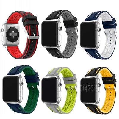 Soft Silicone Replacement Strap Sport Band For Apple Watch 42mm/38mm iWatch UK