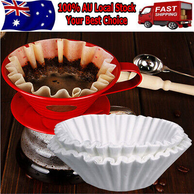 500pcs 25cm Regular Replacement Coffee Filter Paper Case Kitchen Cups White