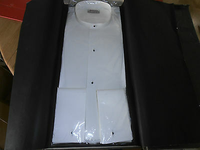 "Vtg  New Hope Bros  Collarless Marcella Dress Shirt sz 14 "" in Original Box"