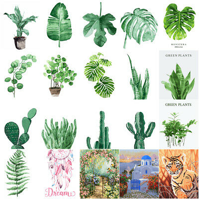 40*50cm Green Leaf Plants Pattern Paint By Number kit DIY Painting Canvas Frame