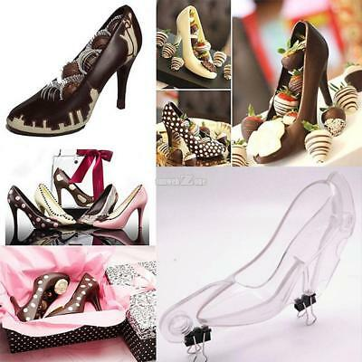 New High Heel Shoes Shape Chocolate Mold 3D Cake Decorating Tools for S0BZ