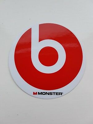 beats by dr. dre monster headphones sticker red