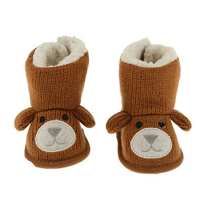 Winter Warm Toddler Infant Baby Fleece Knit Snow Boots Prewalker for 0-18 Months