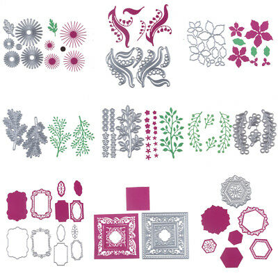 64Styles Metal Floral Cutting Dies Stencil Scrapbook Paper Card Craft Emboss DIY