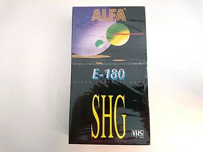 ALFA E-180 SHG VHS Blank Tape PAL SECAM SEALED