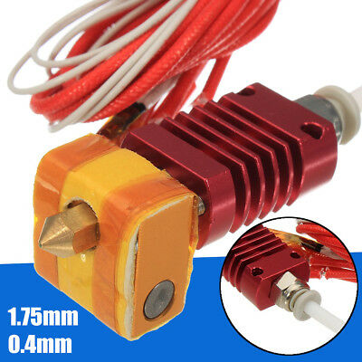 12V 24V 40W  MK10 Extruder Hot End Kit 1.75mm 0.4mm Nozzle For Creality 3D CR-10