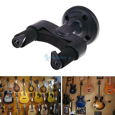 Guitar Acoustic Electric Bass Wall Rack Hook Mounted Brackets Hangers Holders UK