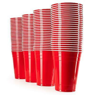 American 16OZ Plastic Red Party Cups Beer Pong Disposable Drinking Game Cup