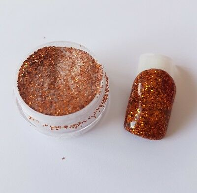 NSI coloured acrylic powder copper brown/bronze glitter pre-mixed 3g pot