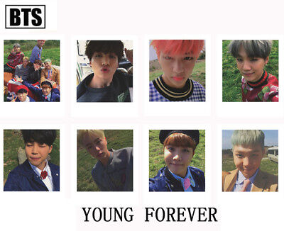 8pcs Kpop BTS YOUNG FOREVER Signature Cards J-HOPE V JIMIN Collective Photocard