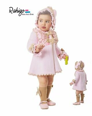 Rahigo Baby Girl 2 pcs knitted coat with bonnet 2Y