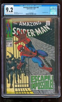 Cgs 9.2 Amazing Spider-Man #65 Marvel Comics 1968 Foggy Nelson Cameo High Grade!