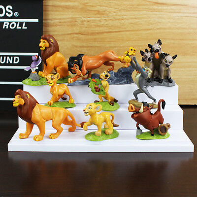 9pcs Movie The Lion King Action Figures Cake Toppers Doll Set Kids Xmas Toy Gift