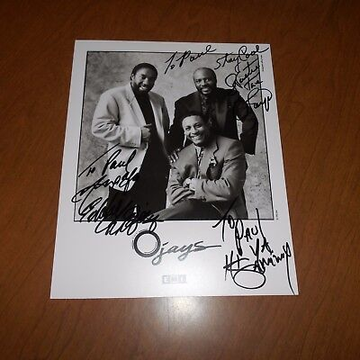 The O'Jays are an American R&B group from Canton, Ohio, formed Hand Signed Photo