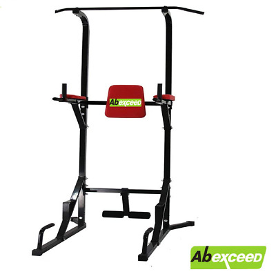 New Home Gym Fitness Power Tower Dip Pull Chin Up Bar Fitness Workout Exercise
