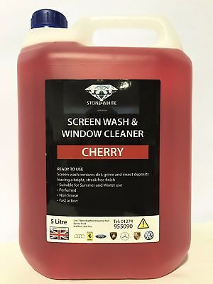 Stonewhite Cherry Fragrance Windscreen Screenwash High Power Concentrate 5 Litre