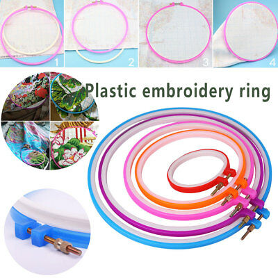 Plastic Cross Stitch/Embroidery Art Hoop Ring Sewing Fabric Craft Tool