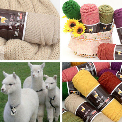 Alpaca Wool Soft Crochet Worsted Yarn Thread For Knitting Scarves Gloves Clothes