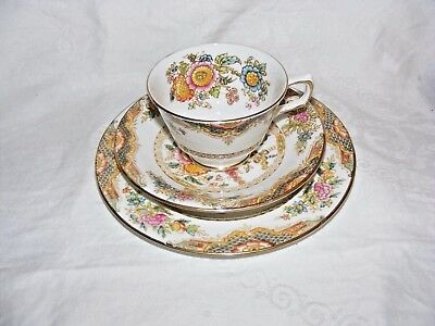 Antique H M Sutherland Bone China Trio Cup Saucer Plate Kiang Hudson Middleton