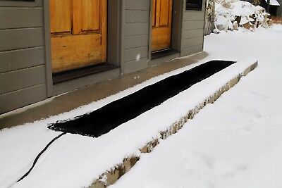 Residential Snow Melting Heated Walkway Mat WM12x120-RES  1 ft W x 10 ft L