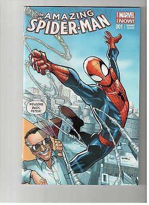 AMAZING SPIDER-MAN #1 Stan Lee  Variant Cover 2014 Marvel Comics VF/NM Exclusive