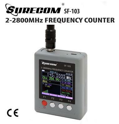 SURECOM SF-103 Portable Frequency Counter 2MHz-2.8GHz with TFT Color Display