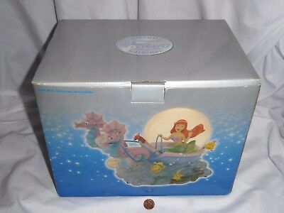 NEW (Opened box) Ariel with Seahorses Musical Snowglobe Disney little mermaid