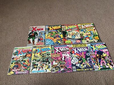 XMEN Lot Of 9! 40,72,85,86,95,96,127,136,& 137 Low To Mid Grade.