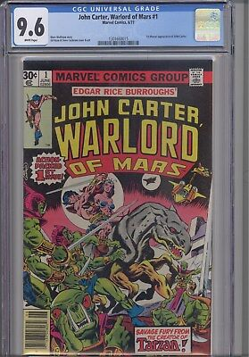 John Carter, Warlord of Mars #1 CGC 9.6 1977  Marvel: Burroughs: NEW Frame
