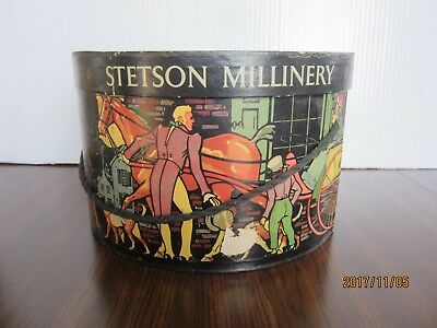 Stetson Millinery Hatbox, Usa Litho Graphics
