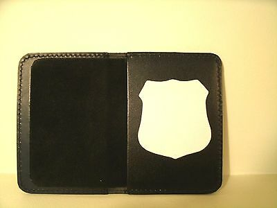 Dept.of Correction's Officer's NYC Style Badge & ID Case Holder   MS-14 Leather