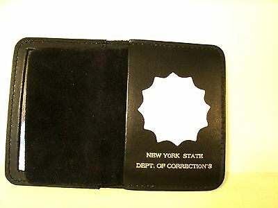 NY State Dept.of Correction's Officer's Style  Custom Foil Badge Wallet Holder