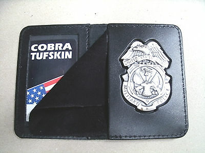 Shield & ID Case Holder U.S. Army MP Badge  Recessed Badge Cut Out CT-14 LG Army