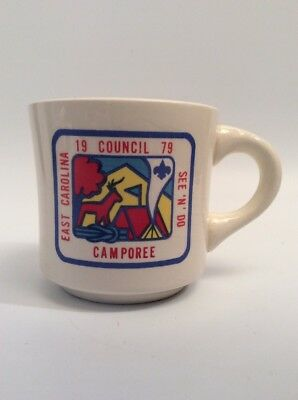 Boy Scouts BSA Coffee Mug, 1979, East Carolina CAMPOREE FREE SHIP