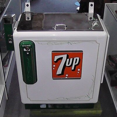 Vintage Restored Coin-Op 7UP Cooler