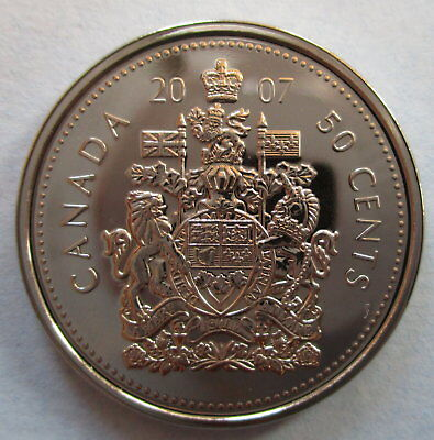 2007 Canada 50 Cents Proof-Like Half Dollar Coin