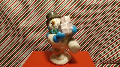 "Lenox ""snowman With Gifts"" Ornament -- New In Box"