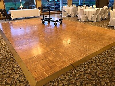 35 Section Pieces Total    21 X 15    Sico Dance Floor - Cart Included