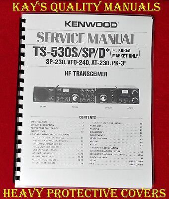 """Kenwood TS-430S Instruction /& Service Manuals 11/"""" X 17/"""" Foldout Diagrams!"""