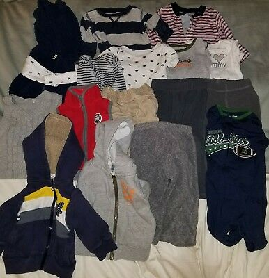 Baby Boy 9 Months Lot Infant Clothes Fall Winter Pants Bodysuit Clothing