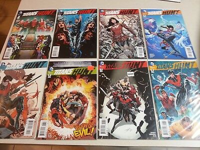 Titans Hunt New 52 Complete Run  Mini-Series #1-8 VF/NM
